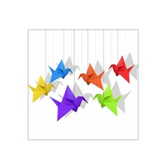 Paper Cranes Satin Bandana Scarf by Valentinaart