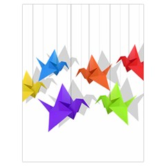 Paper Cranes Drawstring Bag (large) by Valentinaart