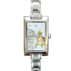 Rabbit  Rectangle Italian Charm Watch by Valentinaart