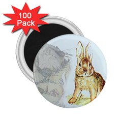 Rabbit  2 25  Magnets (100 Pack)  by Valentinaart