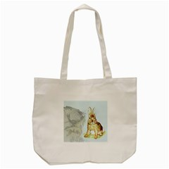 Rabbit  Tote Bag (cream) by Valentinaart