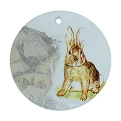 Rabbit  Round Ornament (two Sides) by Valentinaart