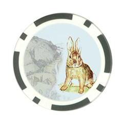 Rabbit  Poker Chip Card Guard by Valentinaart