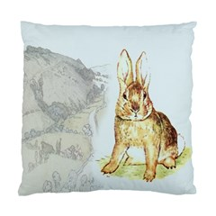 Rabbit  Standard Cushion Case (two Sides) by Valentinaart