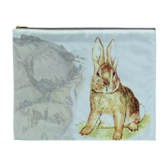 Rabbit  Cosmetic Bag (xl) by Valentinaart