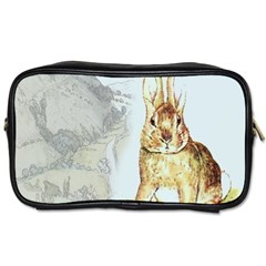 Rabbit  Toiletries Bags 2 Side by Valentinaart