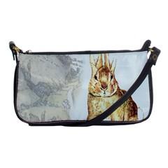 Rabbit  Shoulder Clutch Bags by Valentinaart