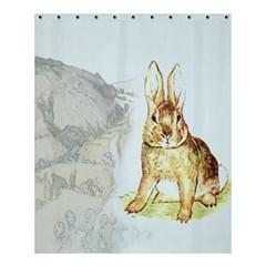 Rabbit  Shower Curtain 60  X 72  (medium)  by Valentinaart