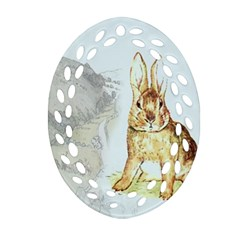 Rabbit  Ornament (oval Filigree) by Valentinaart
