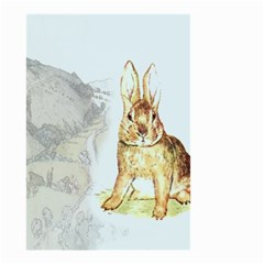 Rabbit  Small Garden Flag (two Sides) by Valentinaart