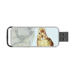 Rabbit  Portable Usb Flash (one Side) by Valentinaart