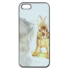 Rabbit  Apple Iphone 5 Seamless Case (black) by Valentinaart