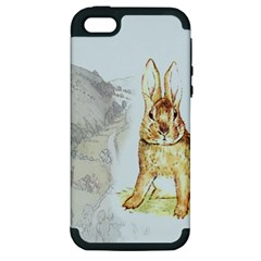 Rabbit  Apple Iphone 5 Hardshell Case (pc+silicone) by Valentinaart