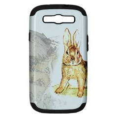 Rabbit  Samsung Galaxy S Iii Hardshell Case (pc+silicone) by Valentinaart
