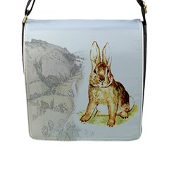Rabbit  Flap Messenger Bag (l)  by Valentinaart