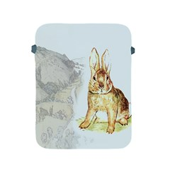 Rabbit  Apple Ipad 2/3/4 Protective Soft Cases by Valentinaart