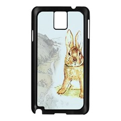 Rabbit  Samsung Galaxy Note 3 N9005 Case (black) by Valentinaart