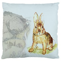 Rabbit  Standard Flano Cushion Case (one Side) by Valentinaart