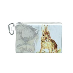 Rabbit  Canvas Cosmetic Bag (s) by Valentinaart