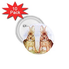Rabbits  1 75  Buttons (10 Pack) by Valentinaart