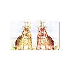 Rabbits  Magnet (name Card) by Valentinaart