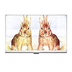 Rabbits  Business Card Holders by Valentinaart