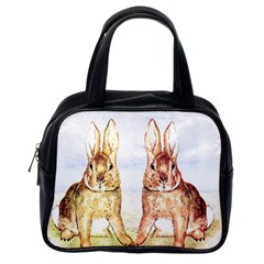 Rabbits  Classic Handbags (one Side) by Valentinaart