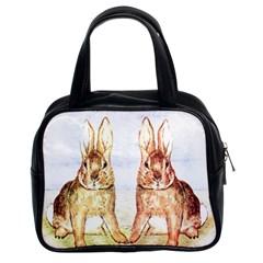 Rabbits  Classic Handbags (2 Sides) by Valentinaart