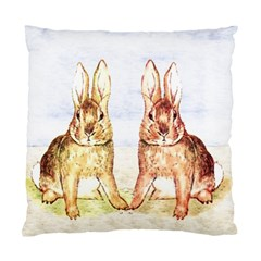 Rabbits  Standard Cushion Case (one Side) by Valentinaart