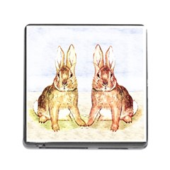 Rabbits  Memory Card Reader (square) by Valentinaart