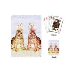 Rabbits  Playing Cards (mini)  by Valentinaart