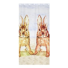 Rabbits  Shower Curtain 36  X 72  (stall)  by Valentinaart