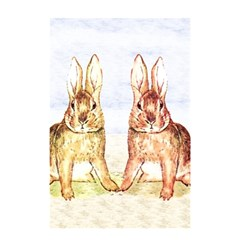 Rabbits  Shower Curtain 48  X 72  (small)  by Valentinaart