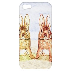 Rabbits  Apple Iphone 5 Hardshell Case by Valentinaart