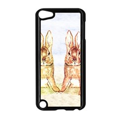 Rabbits  Apple Ipod Touch 5 Case (black) by Valentinaart