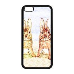 Rabbits  Apple Iphone 5c Seamless Case (black) by Valentinaart
