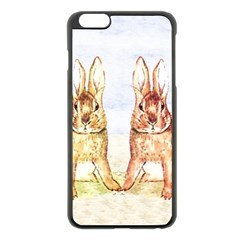 Rabbits  Apple Iphone 6 Plus/6s Plus Black Enamel Case by Valentinaart