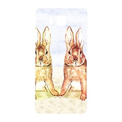 Rabbits  Samsung Galaxy Alpha Hardshell Back Case by Valentinaart