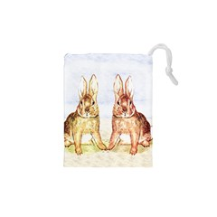 Rabbits  Drawstring Pouches (xs)  by Valentinaart