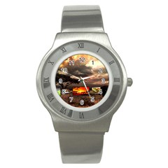 Africa Stainless Steel Watch by Valentinaart