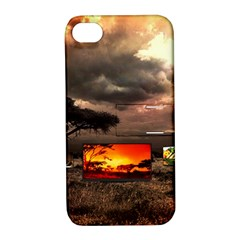 Africa Apple Iphone 4/4s Hardshell Case With Stand by Valentinaart