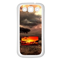 Africa Samsung Galaxy S3 Back Case (white) by Valentinaart