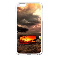 Africa Apple Iphone 6 Plus/6s Plus Enamel White Case by Valentinaart