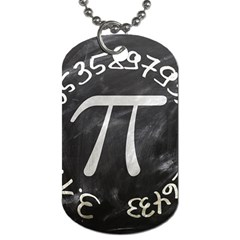 Pi Dog Tag (one Side) by Valentinaart