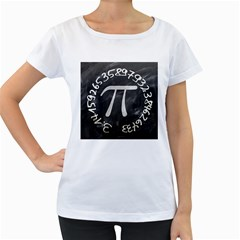 Pi Women s Loose Fit T Shirt (white) by Valentinaart