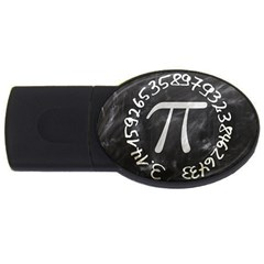 Pi Usb Flash Drive Oval (4 Gb) by Valentinaart