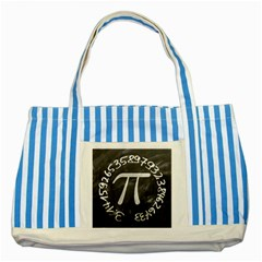 Pi Striped Blue Tote Bag by Valentinaart
