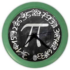 Pi Color Wall Clocks by Valentinaart