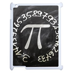 Pi Apple Ipad 2 Case (white) by Valentinaart