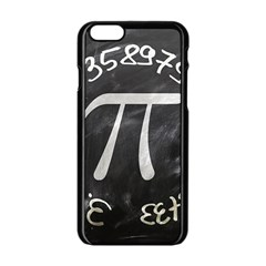 Pi Apple Iphone 6/6s Black Enamel Case by Valentinaart